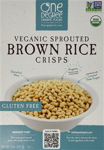 Veganic Sprouted Brown Rice Crisps - 8 Oz.