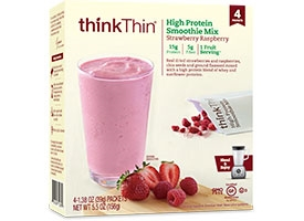 Thinkthin Strawberry Raspberry Smoothie Mix - 5.52 Oz.
