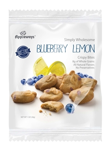 Appleways WG Blueberry Lemon Crispy Bites Individually Wrapped Portions - 1 Oz.