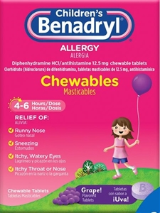 Benadryl Childrens Chewable Tablet