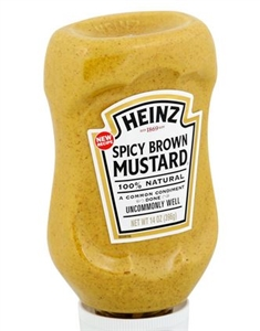 Mustard Brown Spicy Easy Squeeze - 14 Oz.