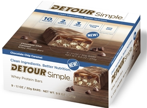 Detour Whey Protein Simple Chocolate Chip Caramel Bar - 60 Grm.