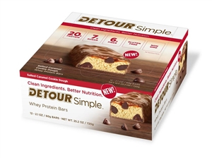 Detour Whey Protein Simple Salted Caramel Cookie Dough Bar - 60 Grm.