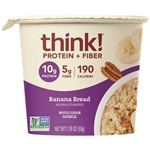 ThinkThin Banana Bread Oatmeal bowls - 1.76 Oz.