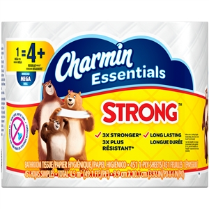 Charmin Essentials Strong Dry Toilet Paper 1 Count