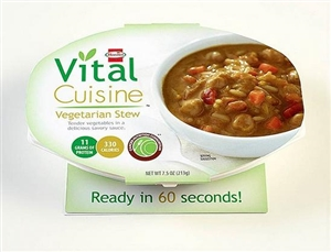 Vital Cuisine Vegetarian Stew in Tray - 7.5 Oz.