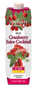Sunberry Farms Cranberry Juice Cocktail - 33.8 Fl. Oz.