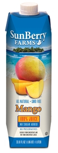 Mango 100 Percentage Juice - 33.81 Oz.