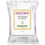 Burts Bees Sensitive Facial Cleansing Towelettes