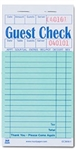 Guest Check Paper 1 Part Booked 16 Lines Green