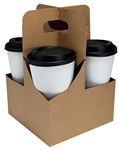 LBP Catalog Jumbo 4 Cup Paper Drink Carrier Plain Kraft
