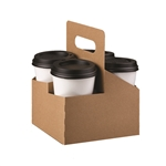 LBP Catalog Standard 4 Cup Paper Drink Carrire plain kraft