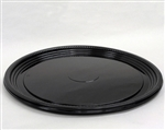 Thermoformed Round Black Pet Serving Tray - 16 in.