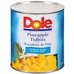 Pineapple Tidbits Fancy In Heavy Syrup - 106 Oz.