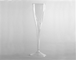 Stem 1 piece Fluted Clear Champagne Polystyrene - 5 Oz.