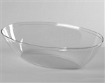 Bowl Oval Clear Serving Polystyrene - 64 Oz.