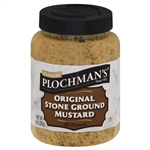 Plochmans Premium Mustard Natural Stone Ground - 20.5 Oz.