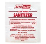 Beer Clean Last-Rinse Sanitizer Beer-Glass Cleaner, 0.25 oz Pouch Pack