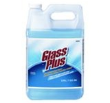 Glass Plus Multi-Purpose Glass Cleaner Refills, 1 gal Bottle, Clear Blue, Liquid, Scent: Floral