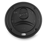PerfecTouch Insulated Black Dome Lid for Paper Hot Cups