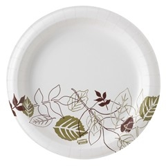 Dixie Ultra Strong Paper Plates, 8.5in. Dia, Round, Style: Pathways