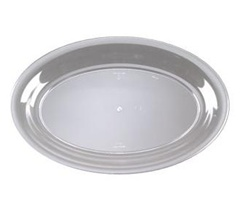EMI Yoshi Clear Party Tray Oval Platter - 11 in. x 16 in.