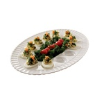 EMI Yoshi 12 Eggs Deviled White Tray - 11 in.x16 in.