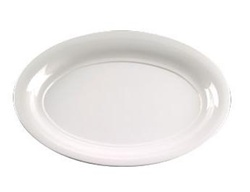 EMI Yoshi White Party Tray Oval Platter - 11 in. x 16 in.