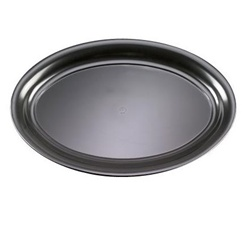 EMI Yoshi Party Tray Black Oval Platter - 14 in. x 21 in.