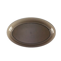 EMI Yoshi Smoke Oval Bowl 250 Oz. - 14 in.x21 in.