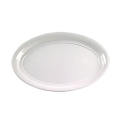 EMI Yoshi White Oval Bowl 250 Oz. - 14 in.x21 in.