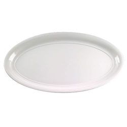EMI Yoshi White Party Tray Oval Platter - 14 in. x 25 in.