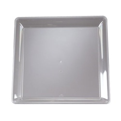 EMI Yoshi Clear Party Tray Square Platter - 18 in. x 18 in.