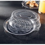 EMI Yoshi Deli Mate Round Clear Tray with Dome Pet Lid - 12 in.