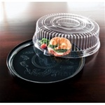EMI Yoshi Deli Mate Round Clear Tray with Dome Pet Lid - 14 in.