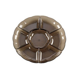 EMI Yoshi Round Dome 7 Compartment Smoke Tray - 16 in.