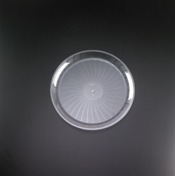 EMI Yoshi Clear Plastic Round Party Tray - 12 in.