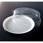 EMI Yoshi Round White Tray with Dome Pet Lid - 12 in.