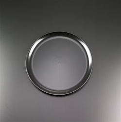 EMI Yoshi Black Round Plastic Party Tray - 14 in.