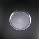 EMI Yoshi Clear Round Plastic Party Tray - 14 in.