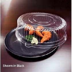 EMI Yoshi Clear Round Tray with Dome Pet Lid - 14 in.