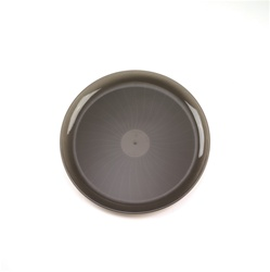 EMI Yoshi Smoke Round Plastic Party Tray - 14 in.