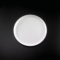 EMI Yoshi White Round Plastic Party Tray - 14 in.