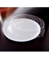 EMI Yoshi Round Black Tray with Dome Pet Lid - 16 in.