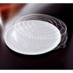 EMI Yoshi Round White Tray with Dome Pet Lid - 16 in.