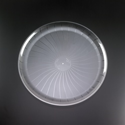 EMI Yoshi Party Tray Round Clear Plastic Tray - 18 in.