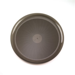 EMI Yoshi Party Tray Round Smoke Plastic Tray - 18 in.