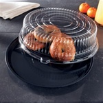 EMI Yoshi Deli Max Black Round 16 in. Tray with Dome OPS Lid