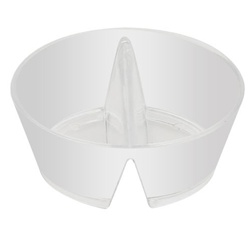 EMI Yoshi Small Wonders Duplex Bowl - Pearlized White