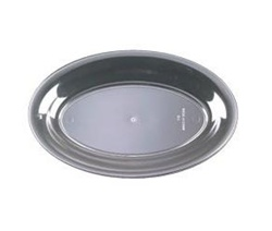 EMI Yoshi Party Tray Oval Clear Platter - 8 in. x 12 in.